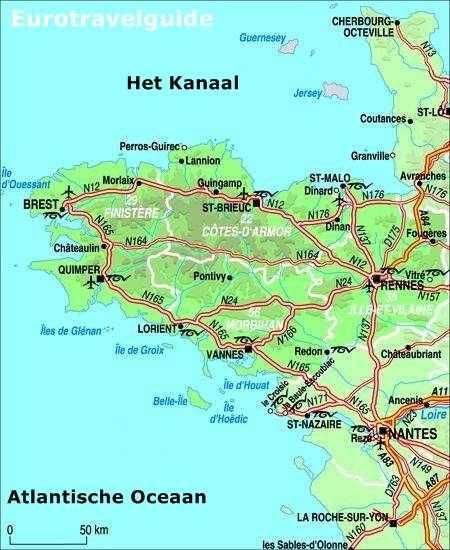 Kaart Van Bretagne