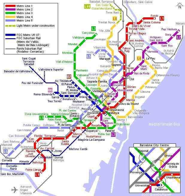 Metro Overzicht Barcelona